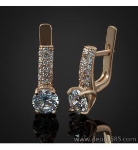 Золотые женские серьги с камнями (код 30022)