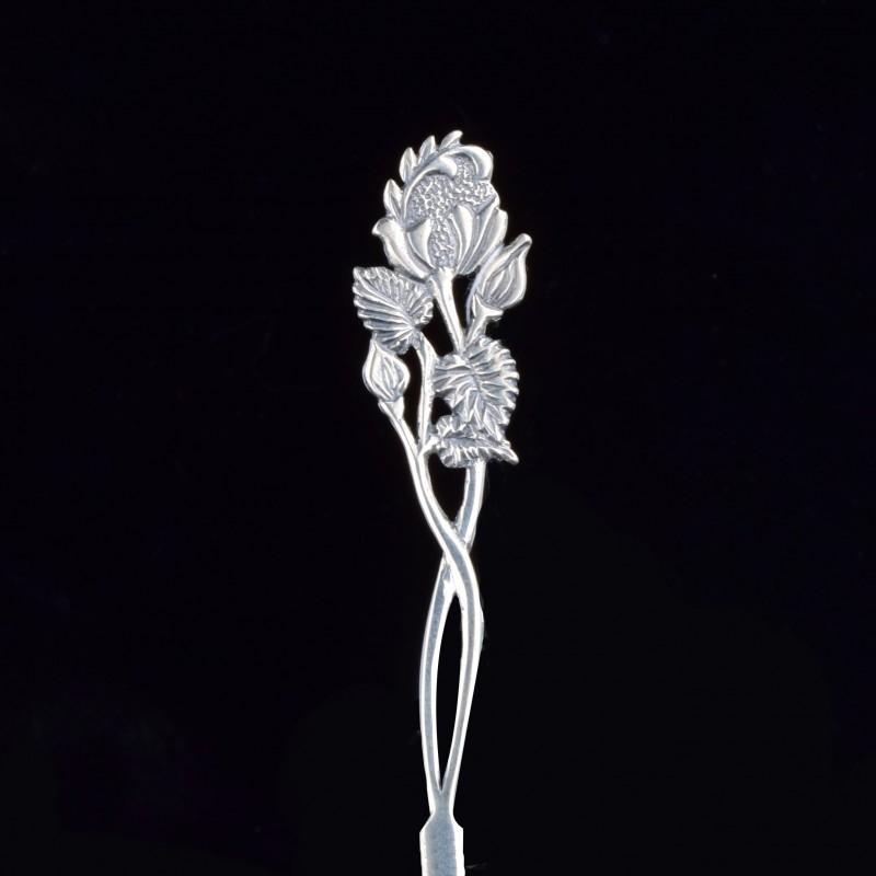 Серебряная ложка Роза (код 9003)