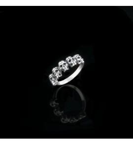 Серебряное кольцо Черепа (код 4299)