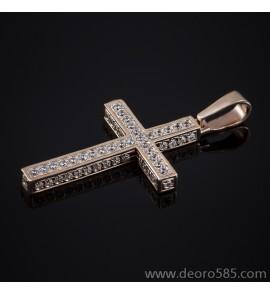 Золотой крест с камнями (код 10001)