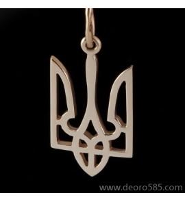 Золотой подвес Герб Украины(код 10027)