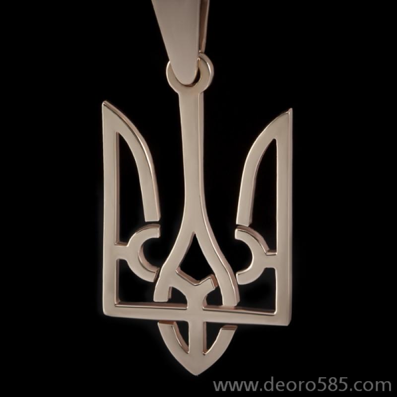 Золотой подвес Герб большой (код 10028)