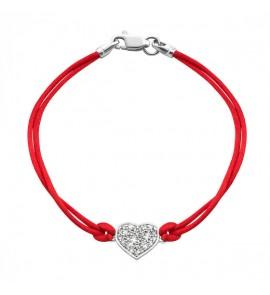 Серебряный браслет Сердце (код 4026/кр)