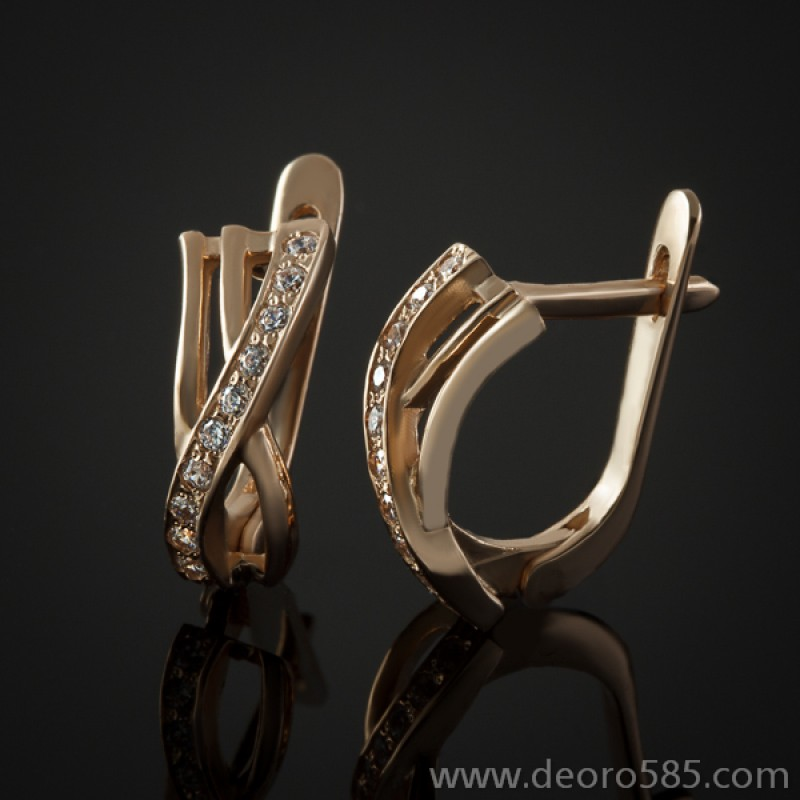 Золотые серьги (код 30030)